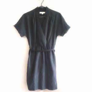 Loft Grey Tieback Dress Size 4P